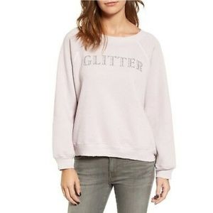 WILDFOX   Lavender Glitter Sweatshirt